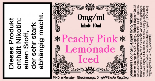 Peachy Pink Lemonade Iced