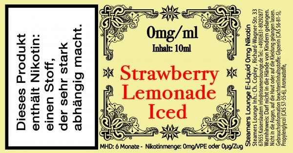 Strawberry Lemonade Iced
