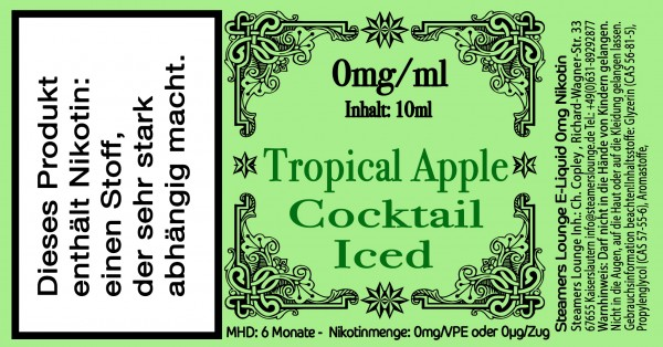 Tropical Apple Coctail Iced